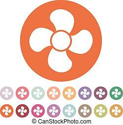 The fan icon. fan, ventilator, blower, propeller symbol....