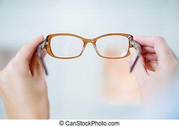 the fashionable eyeglasses