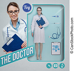 The female doctor realistic doll