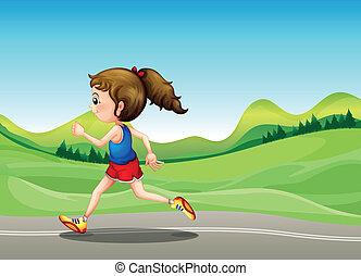 The female runner
