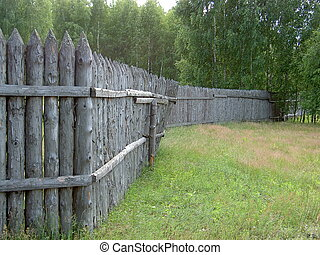 the fence made of wood