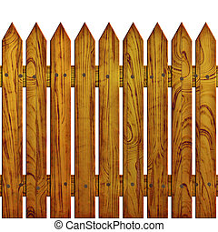 fence - The fence on white background, The Illustration 3D....
