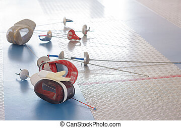 the fencing equipment