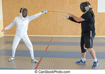 the fencing lesson