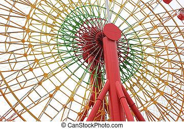 Ferris Wheel in Kobe, Japan filtered vintage