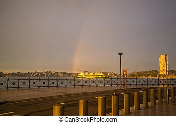 the ferry at the end of the rainbow