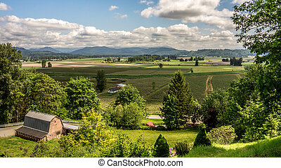 Glenn Valley in the Fraser Valley - The fertile farming area...