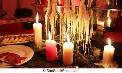 The festive table at the party