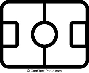 The field for hockey vector icon. Isolated contour symbol illustration