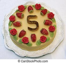 The fifth birthday cake