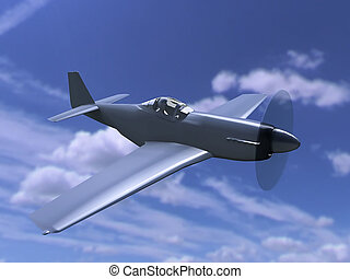 the fighter aircraft with propeller