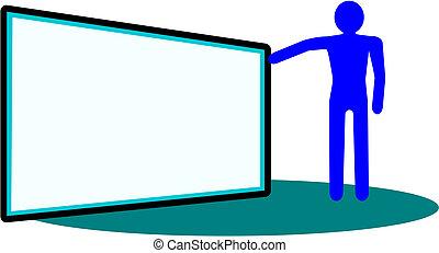 The figure at the blackboard