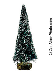 The figure of Christmas tree on a white background.
