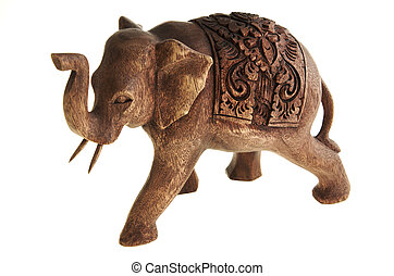 The figure of the elephant from a tree.