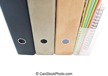 The Filing Shelf - A row of folders and files, lever arch...