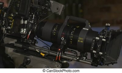 Anamorphic film zoom lens 35-140 mm equipment