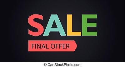 The final offer sale promo banner. Vector illustration