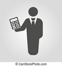 The financier avatar icon. Bank employee and banking,...