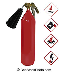 The fire extinguisher. Illustration in vector format EPS.