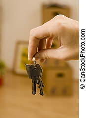 Young woman moves into her first apparment