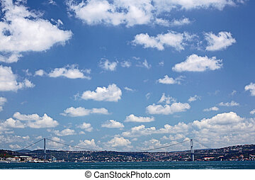 The First Bosporus Bridge connecting Europe and Asia (Turkey)