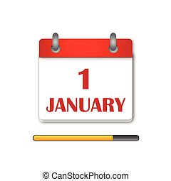 The first day Newyear Day Calendar
