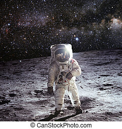 First man on the moon  United states mail stamp featuring