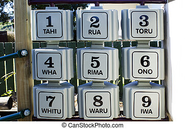 The first nine numbers