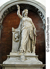 The first Statue of Liberty - Basilica of Santa Croce - Florence - Italy