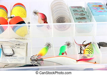 The Fishing accessories.