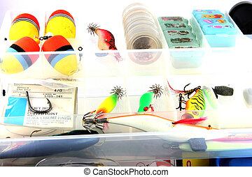 The Fishing accessories. - The Fishing accessories in the...