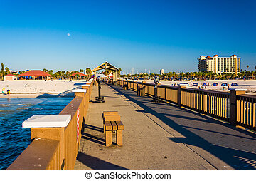 The fishing pier in Clearwater Beach, Florida.