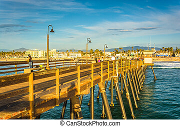 The fishing pier, in Imperial Beach, California.