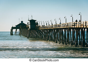 The fishing pier in Imperial Beach, California.