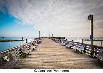 The fishing pier in North Beach, Maryland.