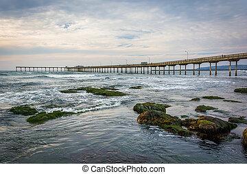 The fishing pier in Ocean Beach, California.