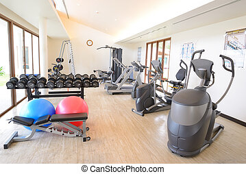The fitness room - The modern fitness room have a lot...