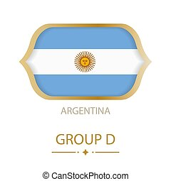 The flag of Argentina is made in the style of the Football World Cup