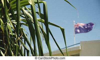 The flag of Australia - A shot of an Australian flag in the...