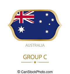The flag of Australia is made in the style of the Football World Cup