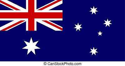 The Flag of Australia. National symbol of the state. Vector illustration.