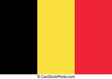 The Flag of Belgium. National symbol of the state. Vector illustration.