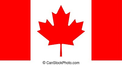 The Flag of Canada. National symbol of the state. Vector illustration.