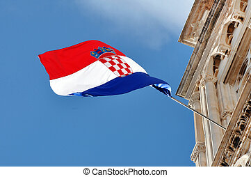 The flag of Croatia
