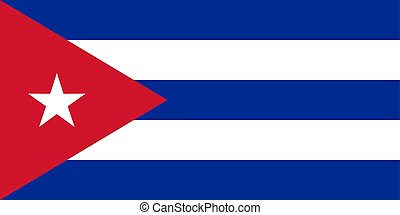 The flag of Cuba. Vector illustration. Havana.