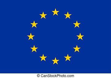 The flag of European Union. Vector illustration