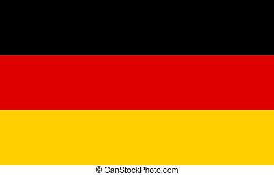 The Flag of Germany. National symbol of the state. Vector illustration.