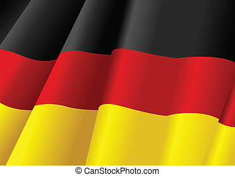 The Flag of Germany - Vector illustration of German flag