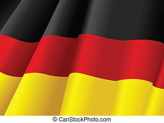 Vector illustration of German flag