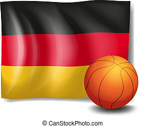 The flag of Germany with a ball